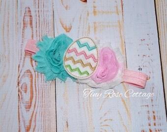 Easter Egg Headband Embroidered