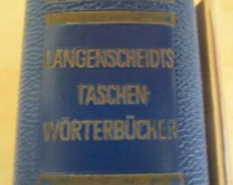 Langenscheidt's Taschenwörterbuch Pocket Dictionary English/German 1956 Leather Bound
