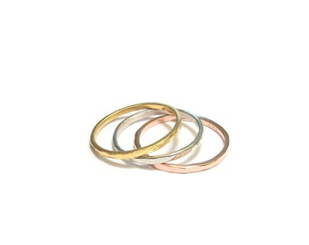 "Ring ""Trindade 2"" - fine silver and Vermeil rings"