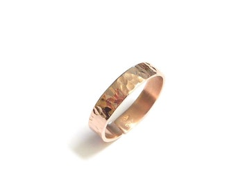 Hammered Rose Vermeil ring