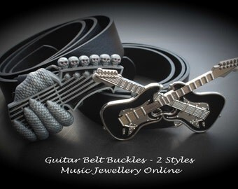 Guitar Belts - Choice of 2 Styles - Guitar buckle