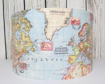 World Map Lampshade Atlas