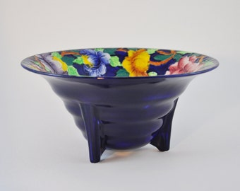 gallerymichel Maling Ware New Castle on Tyne Art Deco Footed  Bowl