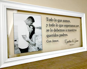 Personalized Wedding Gift, Spanish Gifts, Mother of the Bride Gift Gifts for Parents Father of the Bride Gift Wedding Gifts for Parents