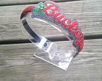 Buckeyes headband slider with headband, ohio state headband, osu