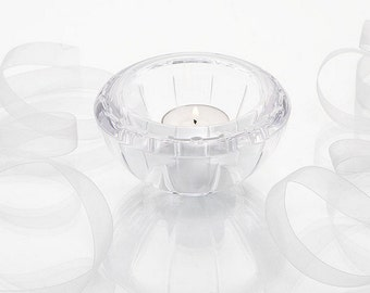 Wedding, Engagement, Anniversary Gift Wedgewood Vera Wang Glass Tea Light Holder