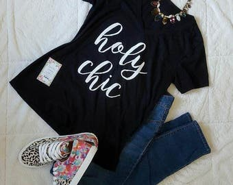 Holy Chic Vneck Tee