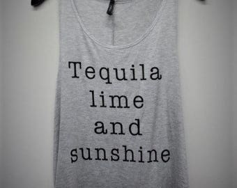 Tequila Lime And Sunshine Graphic Tank