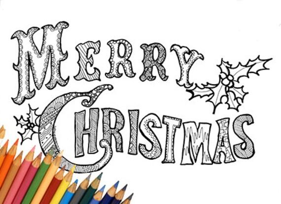 Merry christmas buon natale pagina da colorare stampabile - Lista di natale da colorare pagina da colorare ...