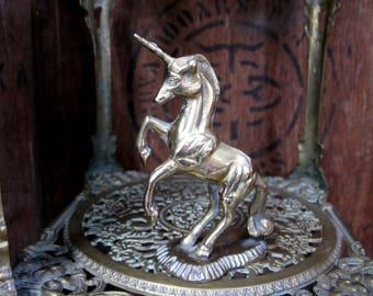 Brass Unicorn, Brass Ornament, Unicorn Ornament, Unicorn Lover, Unicorn Gift, Brass Paperweight, Brass Door Stop, Vintage Unicorn