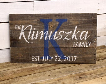 Mother's Day Gift | Custom Wood Name Sign | Rustic Family Name Sign | Distressed Pallet Name Sign | Family Established Sign | Personalized
