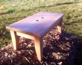 Red Oak Step Stool Very Sturdy