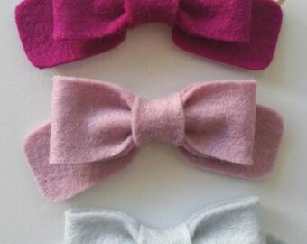 Wool Felt Hair bow Classic bow
