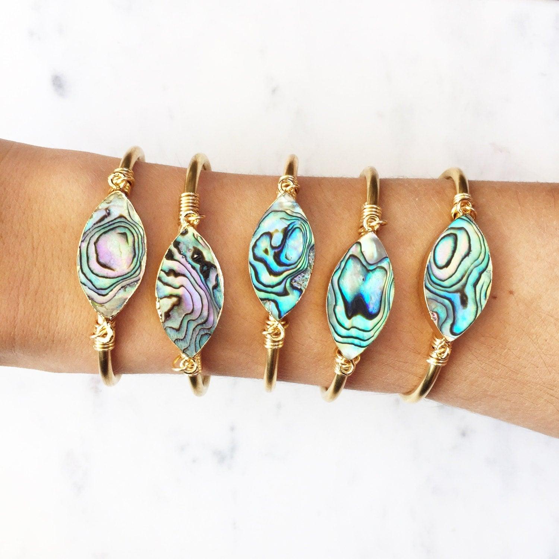 The Abalone, Abalone Bracelet,  Abalone Cuff, Shell Bracelet, Mermaid Bracelet