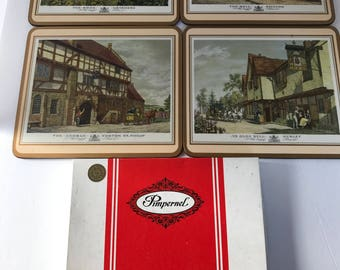 Vintage Pimpernel, England Inns, Set of Four Traditional Placemats