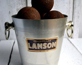 Vintage Lanson Champagne Ice Bucket Wine Cooler