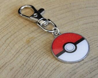 Pokemon pokeball bag charm