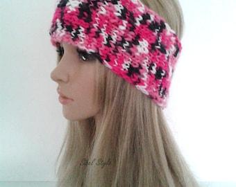 Headband hair earmuffs heating-ears headband headband, multicoloured handmade knitting, woman gift idea.