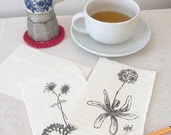 Note Cards,  nature, greetings cards, wildflowers, gift for gardener, gift for wildlife lover, handmade paper, Free UK p&p notecards