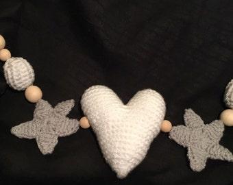 Cute Crochet & Wooden Pram Toy