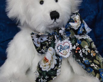 "Billie, 13"" OOAK Faux Fur Artist Teddy Bear by Patricia Bruce Bears"