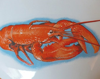 Sarreguemines soup tureen. French tureen. Lobster pattern.