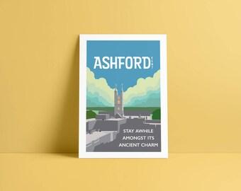 Ashford Town A4 Print