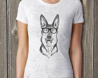 German Shepherd, Dog shirt, Womens tshirts, Animal shirt, Women Shirt, Ladies T Shirts, Dog mom, German Shepherd gift, Hipster, K9, Bookish