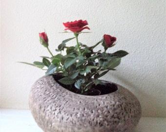 Rock planter, faux rock flower pot, modern ceramic planter