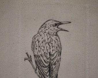 Starling Gift Bag, Fabric Gift Bag, Reusable Gift Bag
