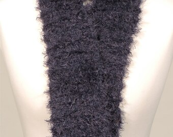 Softest navy blue women's scarf