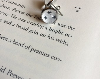 Harry Potter Stars Post Earrings / 3 Tiny Black Stars Post Earrings / Muggle, Witch, or Wizard Gift