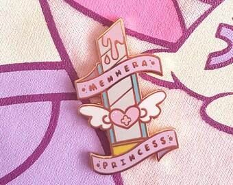 Menhera Princess Enamel Pin - Boxcutter Razor Magical Girl Sweet Lolita Menhera Gurokawaii