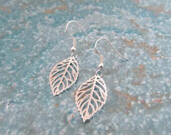 Leave earrings, filigree earrings, bohemian earrings