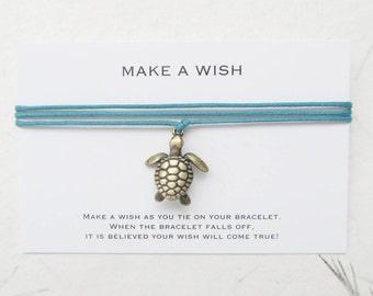 Wish bracelet, turtle bracelet, make a wish, W06
