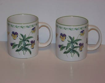2 Studio Nova Garden Bloom Ceramic Coffee Mugs