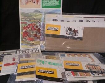 Lot Of Vintage SuperQuick Model Houses Buildings HO Model Railroad Decor Accessories England