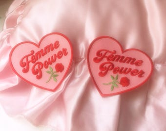 Femme Power Embroidered Iron On Patch