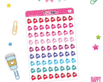 Rainbow Envelope Stickers, Planner Stickers