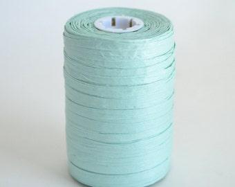 Raffia Ribbon, Mint Paper Ribbon, Mint Green Raffia, Mint Party Decoration, Cool Mint Ribbon, Craft Supply, 100 Yards Spool Degradable