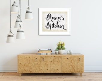 Nana\'s Kitchen Farmhouse Sign/8x10 Sign/Farmhouse