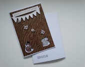Woodland Creatures, Happy Birthday Card, A6 Size