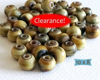 Natural Horn Plain Rondelle Beads--15 Pcs | MGHN200-15