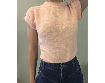 pastel pink spring sweater