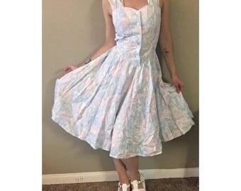 vintage pastel spring dress