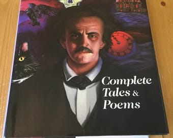 EDGAR ALLAN POE - Complete Tales & Poems Hardcover Book