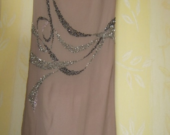 Valentino dress in silk embroidered with pearls and sequins