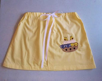 Noah's Ark Dress, Yellow Toddler Set, Skirt and Top, UPcycled Toddler clothing