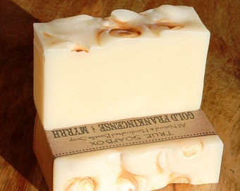 Gold Frankincense & Myrrh Natural Bastille Soap