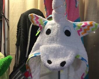 Unicorn Hooded Towels